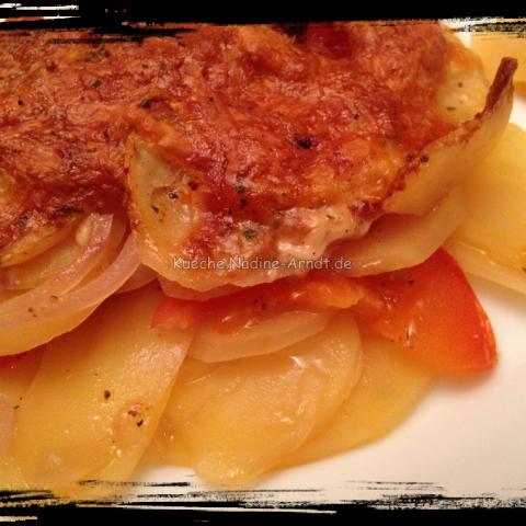 Italienischer Tomaten-Kartoffelgratin