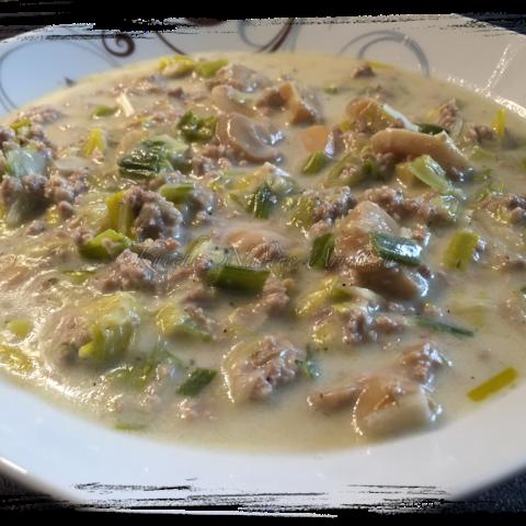 Käse-Porree-Suppe